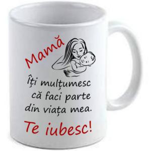 Cană personalizată Buzău - mamă te iubesc