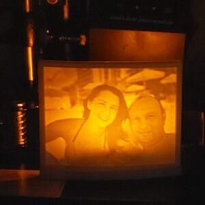 Lampa de veghe, printata in tehnologie 3D (Lithophane - printare in relief) si personalizata cu fotografia preferata