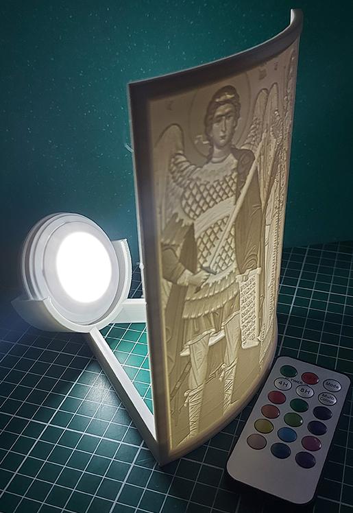 Lampa de veghe 3D personalizata cu fotografie telecomanda si LED RGB