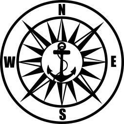 Sticker decorativ Navigatie Maritima 15 x 15 Oracal